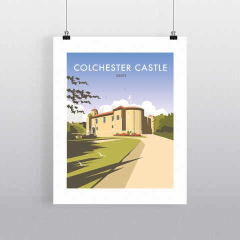 "THOMPSON375: Colchester Castle 24"" x 32"" Matte Mounted Print"