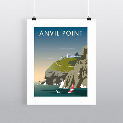 "THOMPSON376: Anvil Point 24"" x 32"" Matte Mounted Print"
