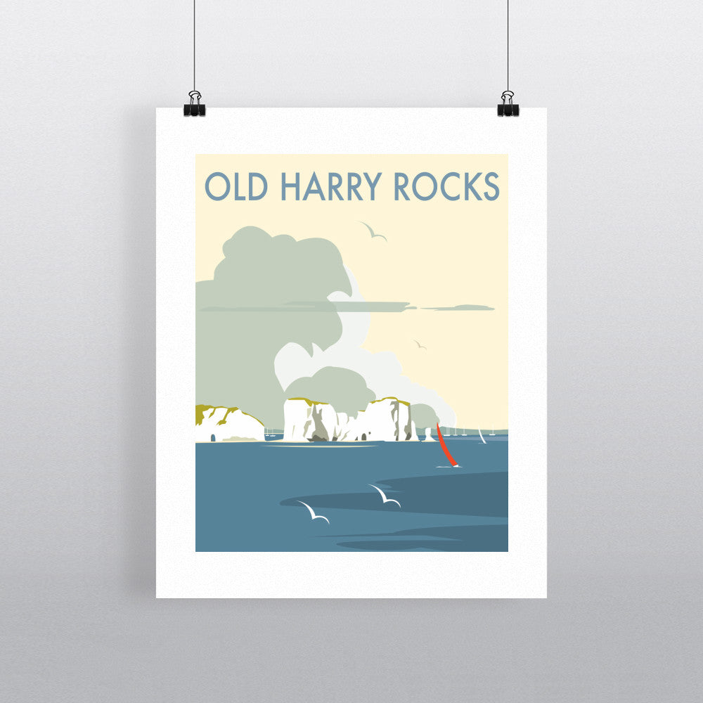 "THOMPSON377: Old Harry Rocks 24"" x 32"" Matte Mounted Print"