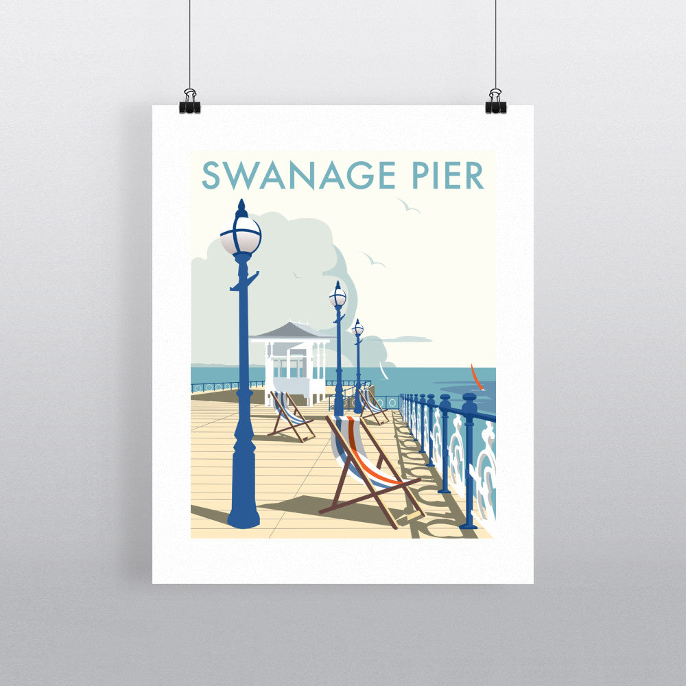 "THOMPSON378: Swanage Pier 24"" x 32"" Matte Mounted Print"