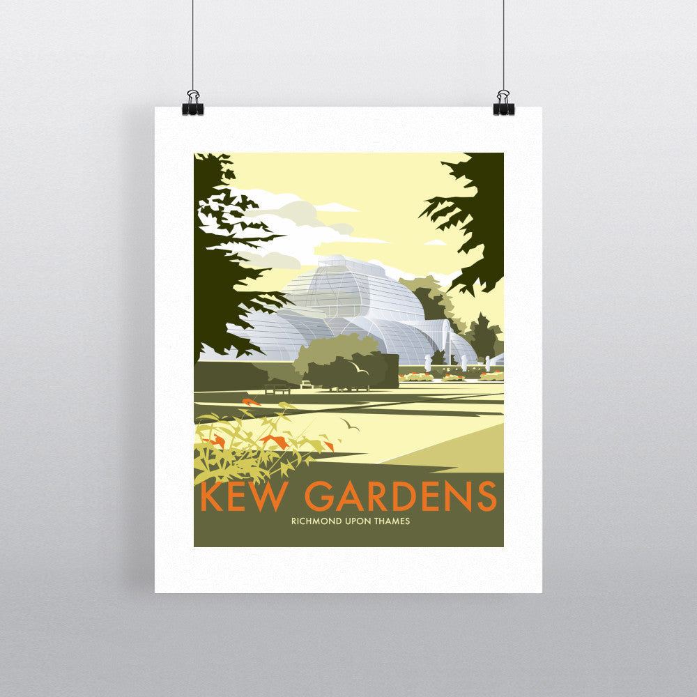"THOMPSON390: Kew Gardens 24"" x 32"" Matte Mounted Print"