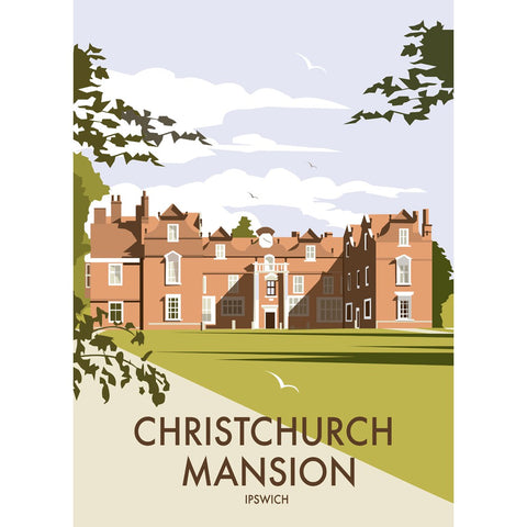 "THOMPSON391: Christchurch Mansion, Ipswich 24"" x 32"" Matte Mounted Print"