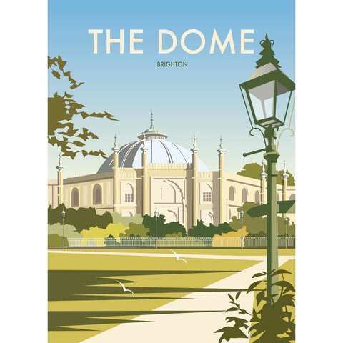"THOMPSON393: The Dome, Brighton 24"" x 32"" Matte Mounted Print"