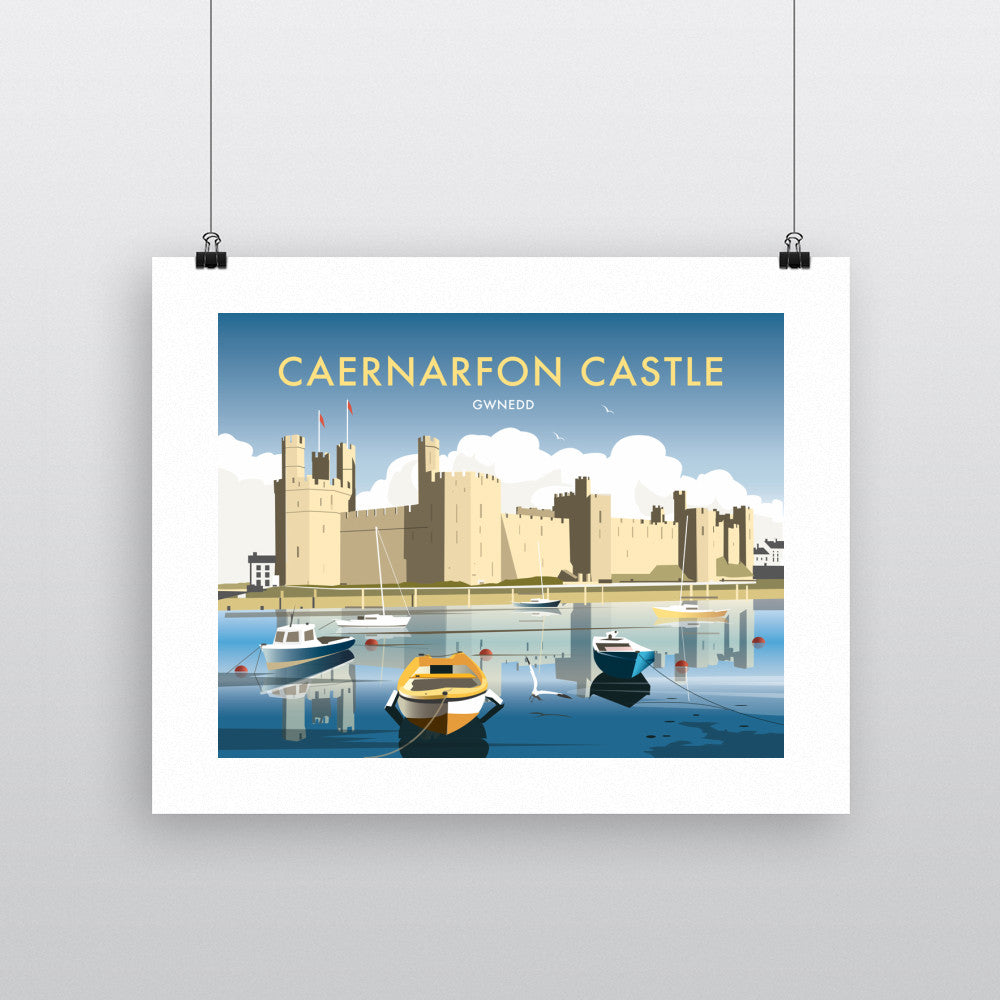 "THOMPSON397: Caernarfon Castle 24"" x 32"" Matte Mounted Print"
