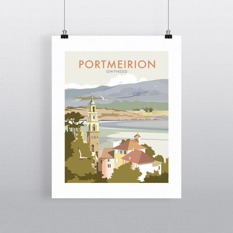 "THOMPSON400: Portmeirion, Wales 24"" x 32"" Matte Mounted Print"