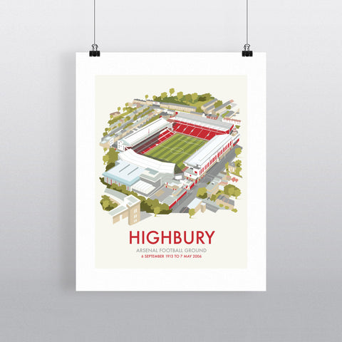 "THOMPSON403: Highbury 24"" x 32"" Matte Mounted Print"