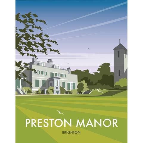 "THOMPSON404: Preston Manor, Brighton 24"" x 32"" Matte Mounted Print"