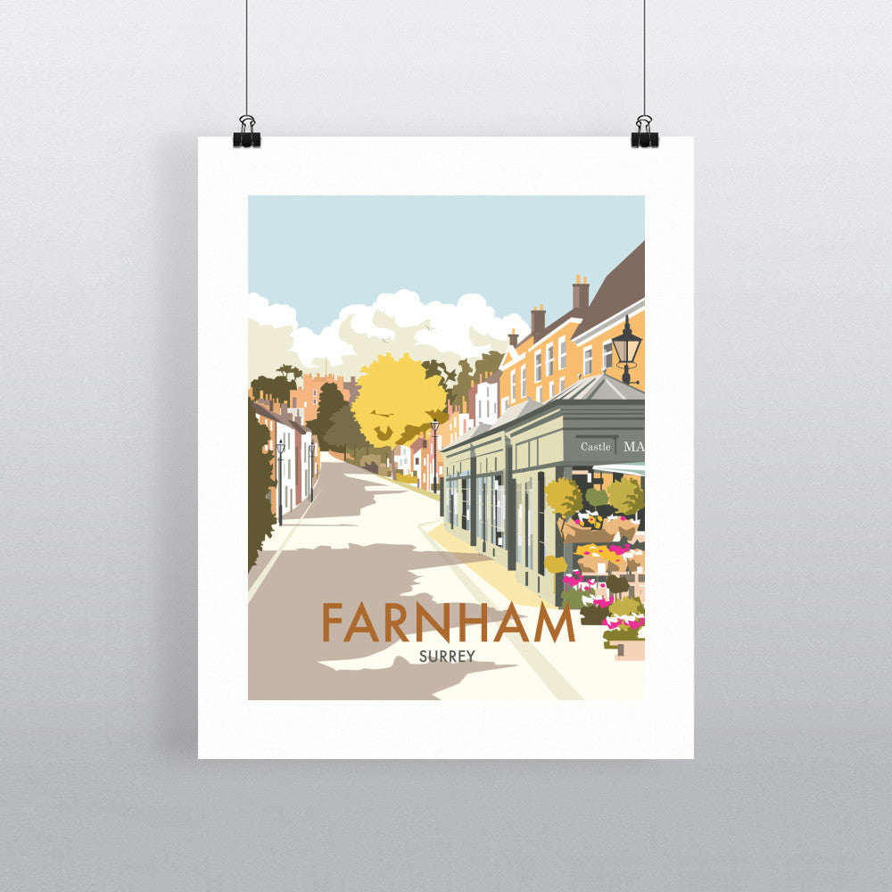 "THOMPSON427: Farnham, Surrey 24"" x 32"" Matte Mounted Print"