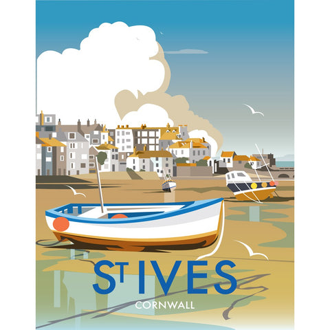 "THOMPSON429: St Ives, Cornwall 24"" x 32"" Matte Mounted Print"