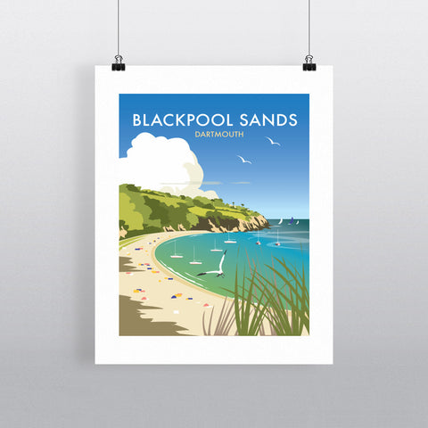 "THOMPSON430: Blackpool Sands, Dartmouth 24"" x 32"" Matte Mounted Print"