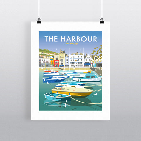 "THOMPSON431: The Harbour, Dartmouth 24"" x 32"" Matte Mounted Print"