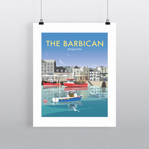 "THOMPSON443: The Barbican, Plymouth 24"" x 32"" Matte Mounted Print"