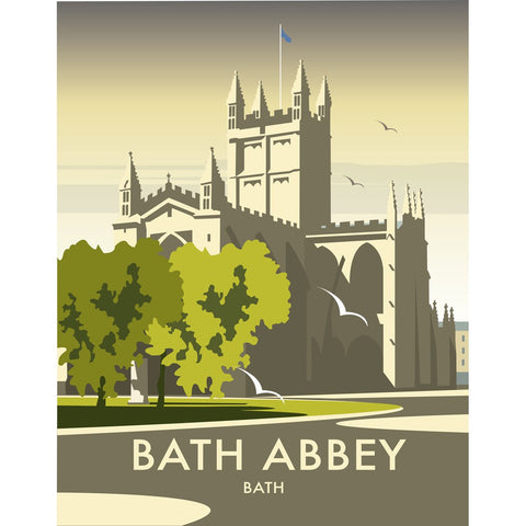 "THOMPSON444: Bath Abbey 24"" x 32"" Matte Mounted Print"