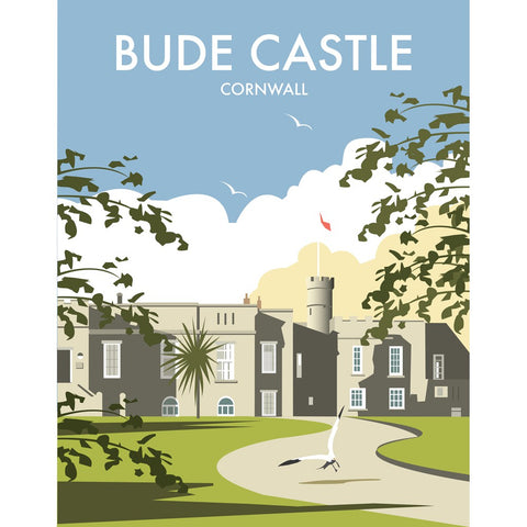 "THOMPSON445: Bude Castle, Cornwall 24"" x 32"" Matte Mounted Print"