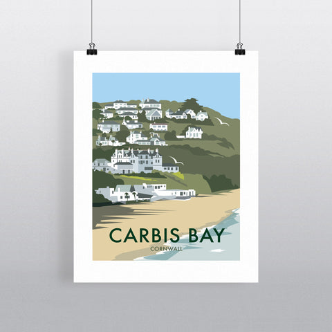 "THOMPSON446: Carbis Bay, Cornwall 24"" x 32"" Matte Mounted Print"