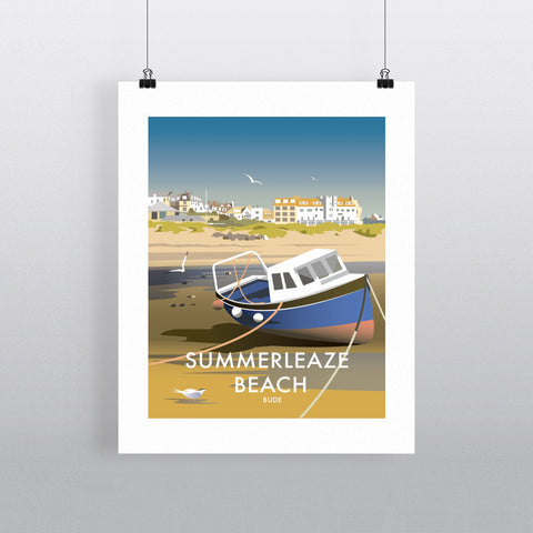 "THOMPSON448: Summerleaze Beach, Cornwall 24"" x 32"" Matte Mounted Print"