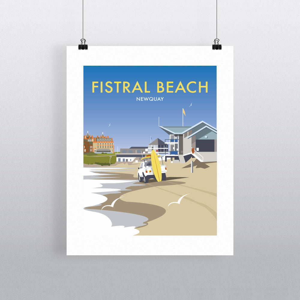 "THOMPSON451: Fistral Beach, Newquay 24"" x 32"" Matte Mounted Print"