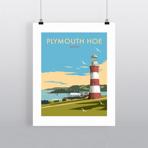 "THOMPSON452: Plymouth Hoe, Devon 24"" x 32"" Matte Mounted Print"