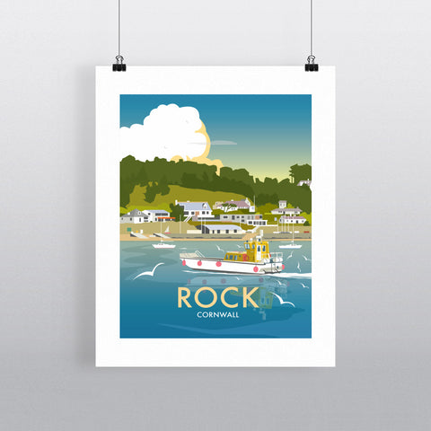 "THOMPSON453: Rock, Cornwall 24"" x 32"" Matte Mounted Print"