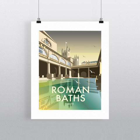 "THOMPSON454: Roman Baths 24"" x 32"" Matte Mounted Print"