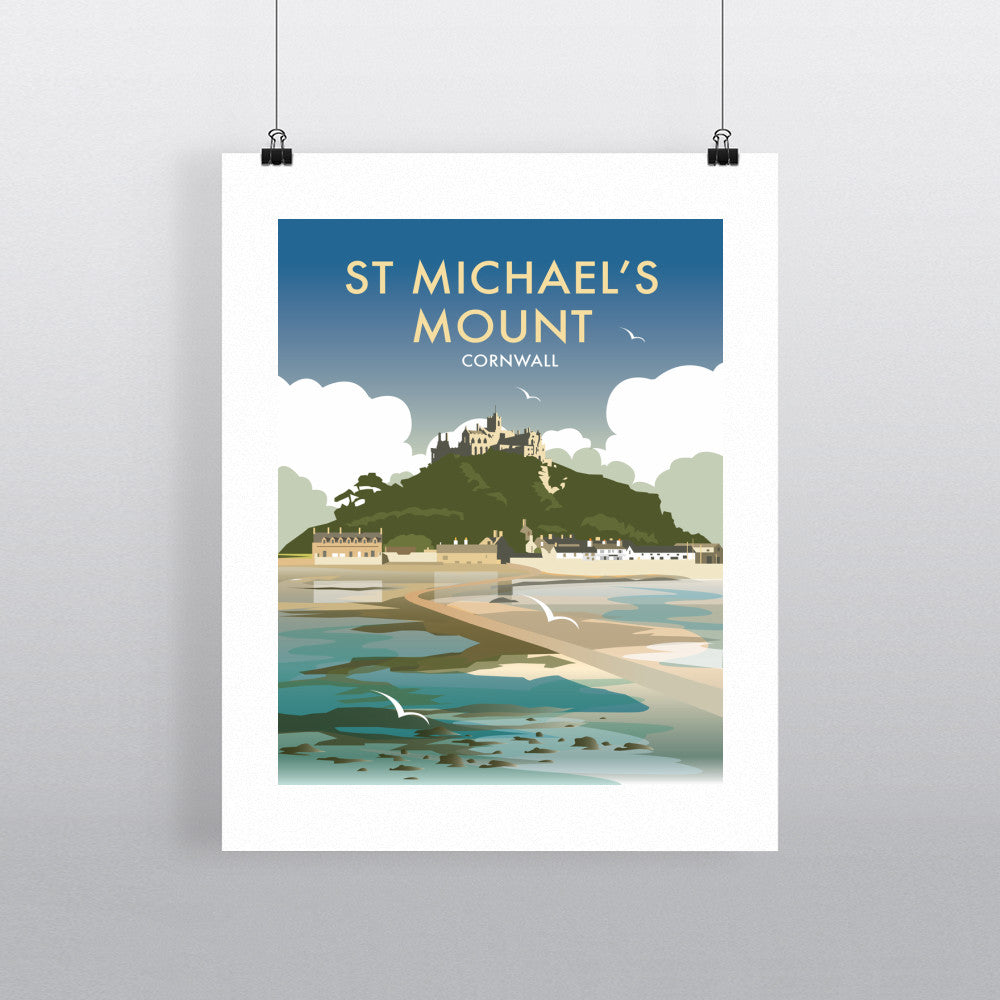 "THOMPSON458: St Michaels Mount, Cornwall 24"" x 32"" Matte Mounted Print"