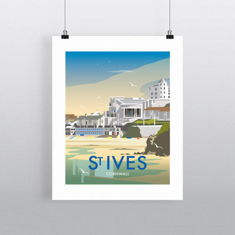 "THOMPSON459: St Ives, Cornwall 24"" x 32"" Matte Mounted Print"