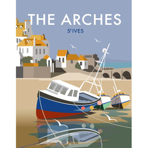 "THOMPSON460: The Arches, St Ives 24"" x 32"" Matte Mounted Print"
