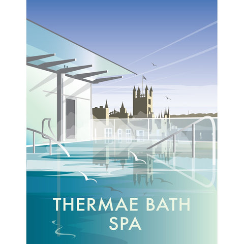 "THOMPSON461: Thermae Bath Spa 24"" x 32"" Matte Mounted Print"