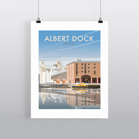 "THOMPSON465: Albert Dock, Liverpool 24"" x 32"" Matte Mounted Print"