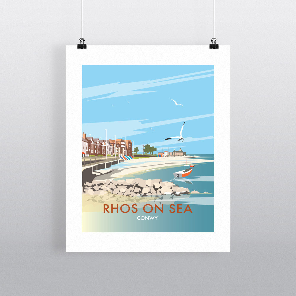 "THOMPSON467: Rhos on Sea, Wales 24"" x 32"" Matte Mounted Print"