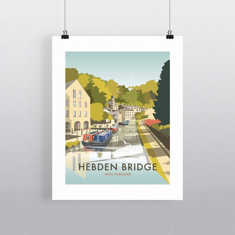 "THOMPSON468: Hebden Bridge 24"" x 32"" Matte Mounted Print"