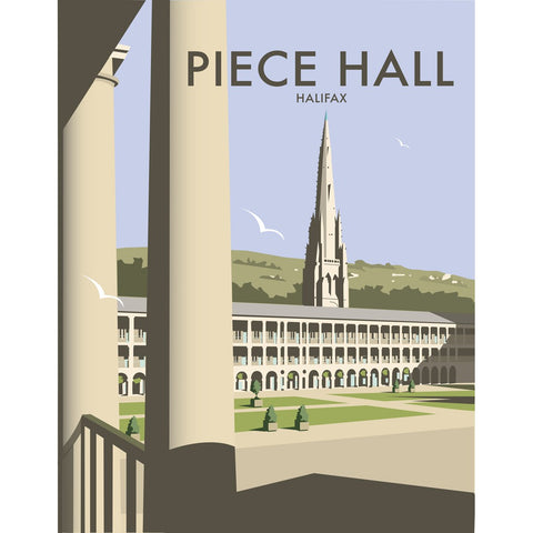"THOMPSON471: The Piece Hall, Halifax 24"" x 32"" Matte Mounted Print"