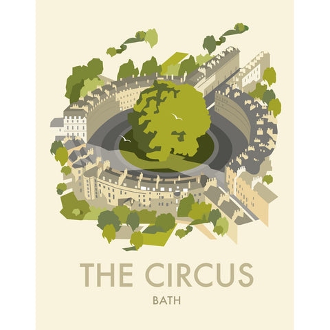 "THOMPSON475: The Circus, Bath 24"" x 32"" Matte Mounted Print"