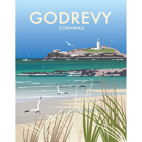 "THOMPSON476: Godrevy, Cornwall 24"" x 32"" Matte Mounted Print"