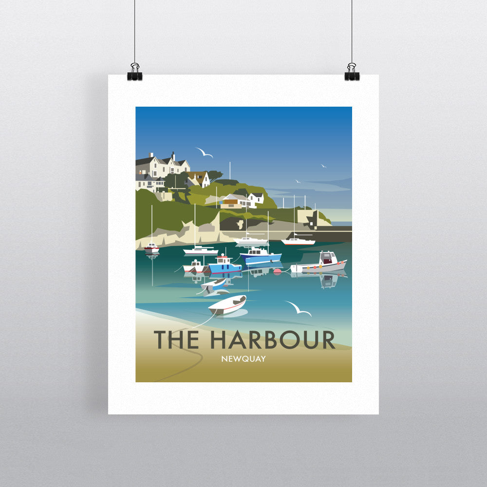 "THOMPSON477: The Harbour, Newquay 24"" x 32"" Matte Mounted Print"