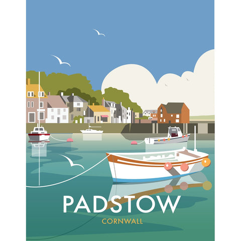 "THOMPSON478: Padstow, Cornwall 24"" x 32"" Matte Mounted Print"