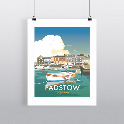 "THOMPSON480: Padstow, Cornwall 24"" x 32"" Matte Mounted Print"