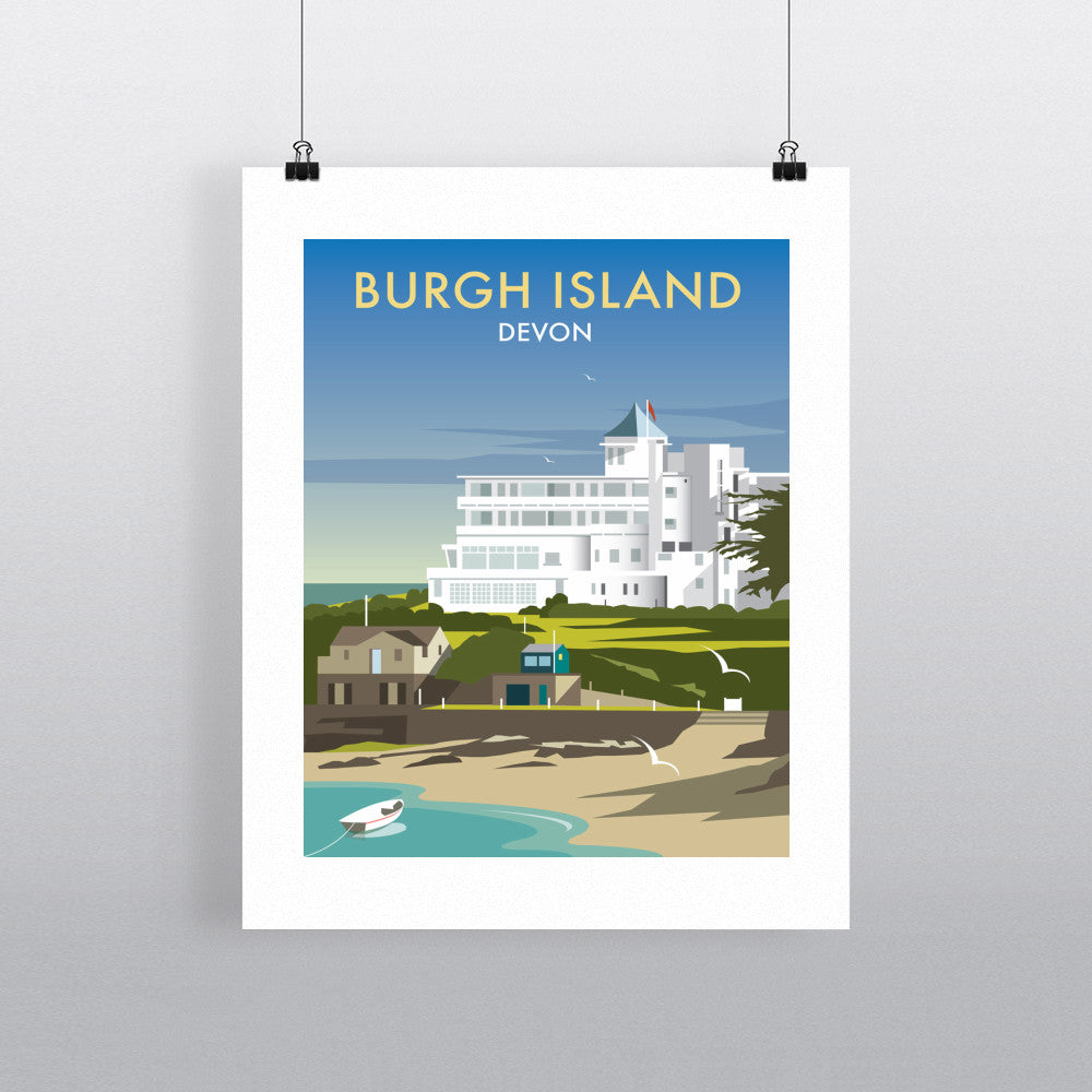 "THOMPSON483: Burgh Island, Devon 24"" x 32"" Matte Mounted Print"