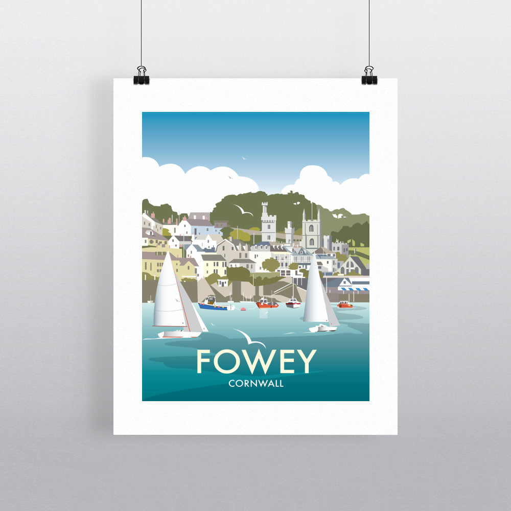 "THOMPSON484: Fowey, Cornwall 24"" x 32"" Matte Mounted Print"