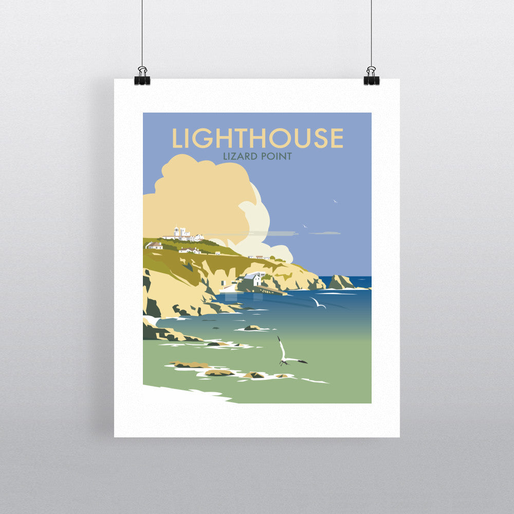 "THOMPSON485: Lizard Point Lighthouse, Cornwall 24"" x 32"" Matte Mounted Print"