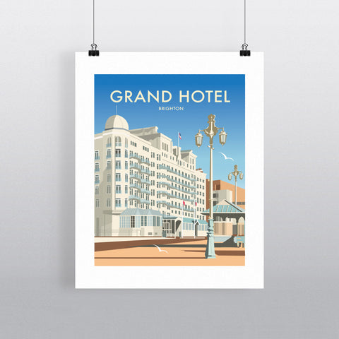 THOMPSON488: The Grand Hotel, Brighton. Greeting Card 6x6