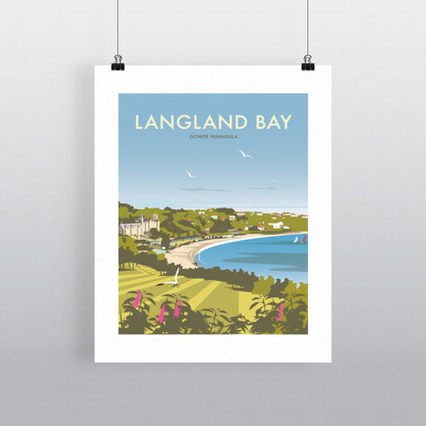 THOMPSON495: Langland Bay Gower Peninsula. Greeting Card 6x6