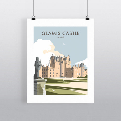 THOMPSON498: Glamis Castle Angus. Greeting Card 6x6