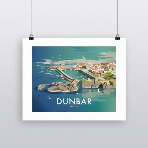 THOMPSON500: Dunbar Harbour. Greeting Card 6x6