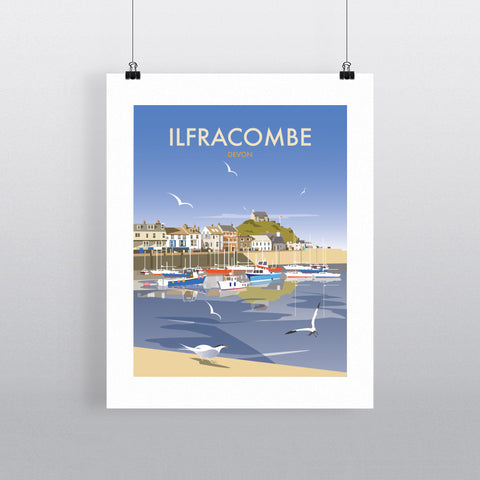 THOMPSON507: Ilfracombe Devon. Greeting Card 6x6