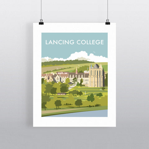 THOMPSON509: Lancing College. Greeting Card 6x6