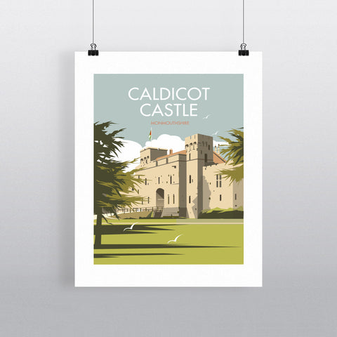 THOMPSON510: Caldicot Castle Monmouthshire. Greeting Card 6x6