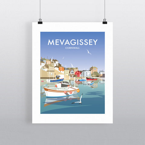THOMPSON515: Mevagissey Cornwall. Greeting Card 6x6