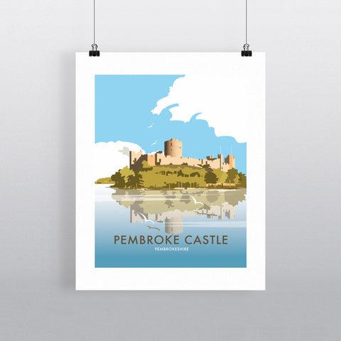 THOMPSON520: Pembroke Castle Pembrokeshire. Greeting Card 6x6