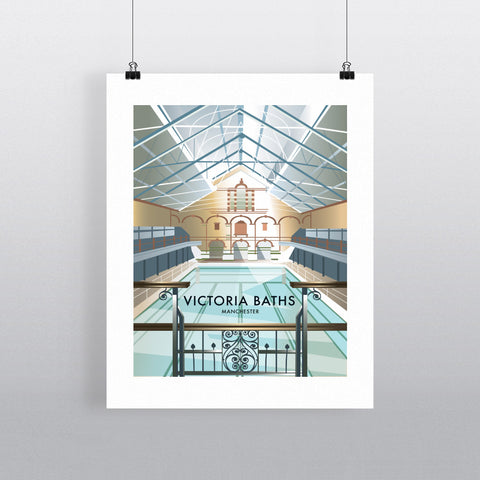 THOMPSON522: Victoria Baths Manchester. Greeting Card 6x6